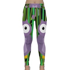 Purple owl Yoga Leggings