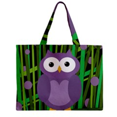 Purple owl Zipper Mini Tote Bag