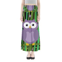 Purple owl Maxi Skirts