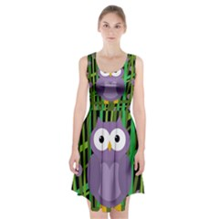 Purple owl Racerback Midi Dress
