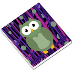 Green and purple owl Small Memo Pads