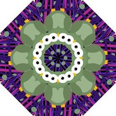 Green and purple owl Hook Handle Umbrellas (Small)