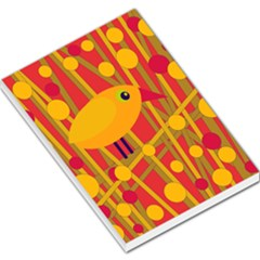 Yellow bird Large Memo Pads