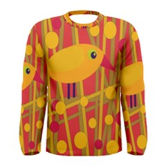 Yellow bird Men s Long Sleeve Tee