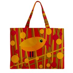 Yellow bird Zipper Mini Tote Bag