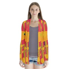 Yellow bird Drape Collar Cardigan