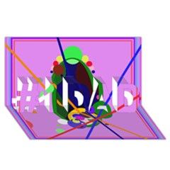 Pink artistic abstraction #1 DAD 3D Greeting Card (8x4)