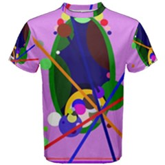 Pink artistic abstraction Men s Cotton Tee