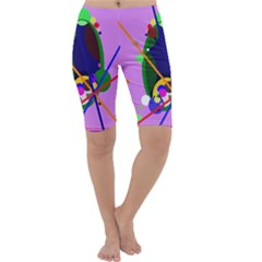 Pink artistic abstraction Cropped Leggings
