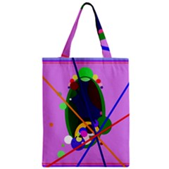 Pink artistic abstraction Zipper Classic Tote Bag