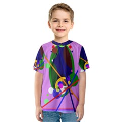 Pink artistic abstraction Kid s Sport Mesh Tee