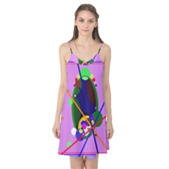 Pink artistic abstraction Camis Nightgown