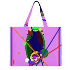 Pink artistic abstraction Large Tote Bag
