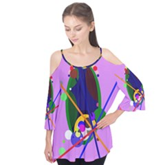 Pink artistic abstraction Flutter Tees