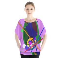 Pink artistic abstraction Blouse