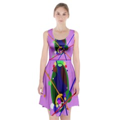 Pink artistic abstraction Racerback Midi Dress