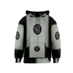 Gray abstract art Kids  Zipper Hoodie