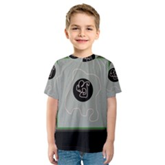 Gray abstract art Kid s Sport Mesh Tee