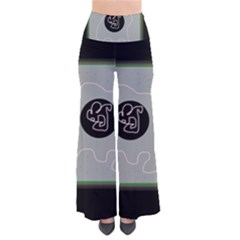 Gray abstract art Pants