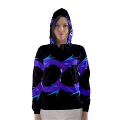 Blue fishes Hooded Wind Breaker (Women)