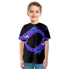 Blue fishes Kid s Sport Mesh Tee