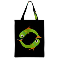 Green fishes Classic Tote Bag