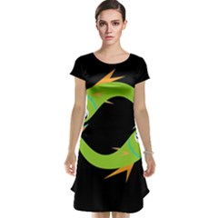 Green fishes Cap Sleeve Nightdress