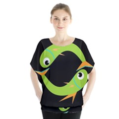 Green Fishes Blouse