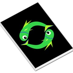 Green fishes Large Memo Pads