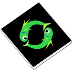 Green fishes Small Memo Pads