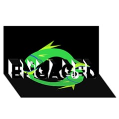 Green fishes ENGAGED 3D Greeting Card (8x4)