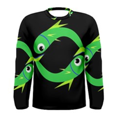Green fishes Men s Long Sleeve Tee