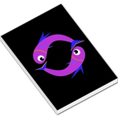 Purple fishes Large Memo Pads