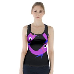 Purple fishes Racer Back Sports Top