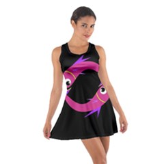 Magenta Fishes Cotton Racerback Dress