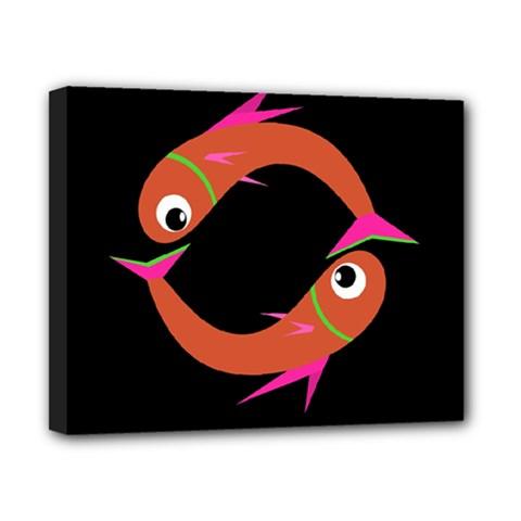 Orange Fishes Canvas 10  X 8