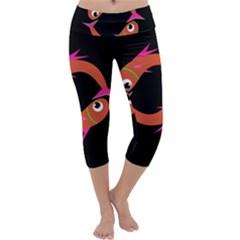 Orange fishes Capri Yoga Leggings