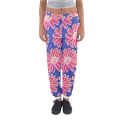 Pink Daisy Pattern Women s Jogger Sweatpants