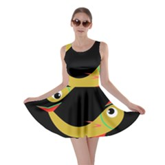 Yellow fishes Skater Dress