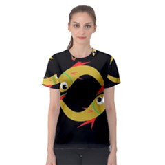 Yellow fishes Women s Sport Mesh Tee