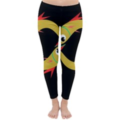 Yellow fishes Winter Leggings