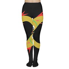Yellow fishes Women s Tights