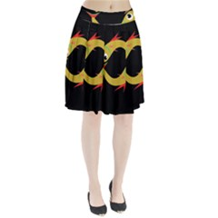 Yellow fishes Pleated Skirt