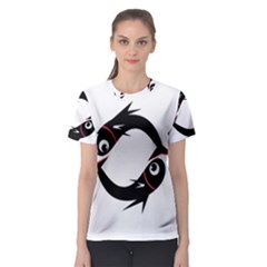 Black fishes Women s Sport Mesh Tee