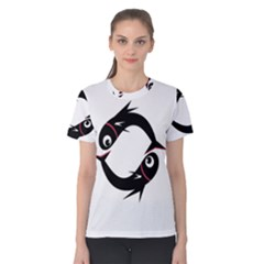 Black fishes Women s Cotton Tee