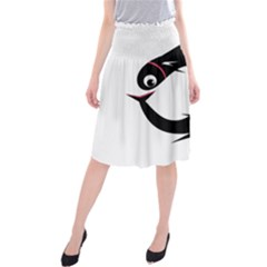 Black fishes Midi Beach Skirt