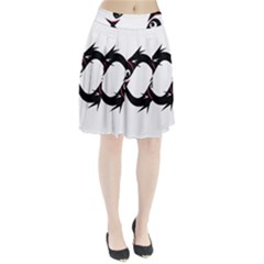 Black fishes Pleated Skirt