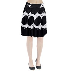 White fishes Pleated Skirt