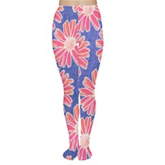 Pink Daisy Pattern Tights