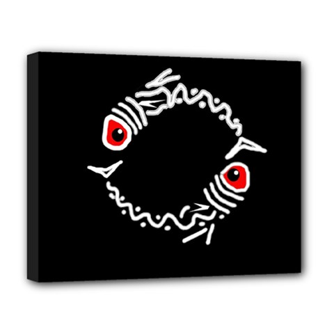 Abstract fishes Deluxe Canvas 20  x 16